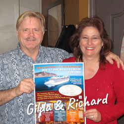 Gilda and Richard won the 7 Day Mexico Cruise